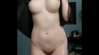 Cute Busty Nude Cosplay Girl Teasing On XXX Cam Show